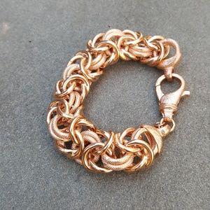 Jewelry - 18K rose gold bracelet embraced in bronze